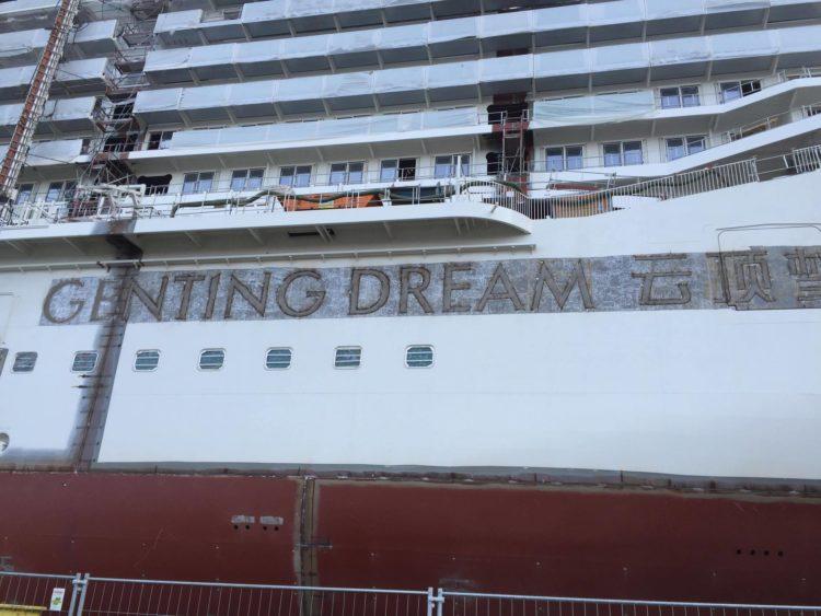Ausdocken Genting Dream / Foto © Nils Kallmeyer