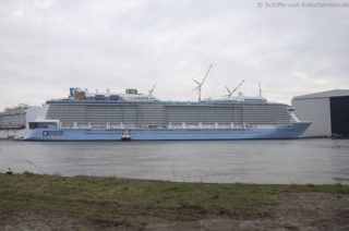 Ausdocken Ovation of the Seas