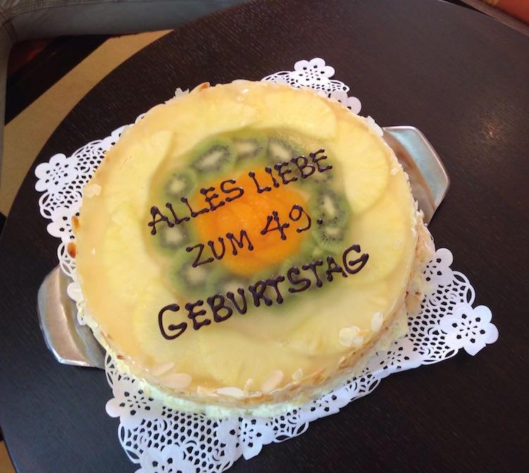 Geburtstagstorte auf AIDAmar