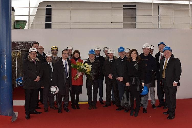 Münzzeremonie auf der Fincantieri Werft von der Seabourn Encore / © Seabourn Cruise Line
