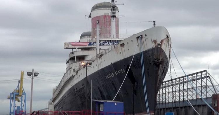 SS United States wird wieder in Diest gestellt - hier seht ihr das Schiff in Philadelphia / © Inselvideo
