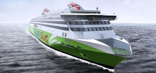 Tallink Megastar: Neue Schnellfähre wurde heute bei Meyer Turku getauft / © Tallink Silja