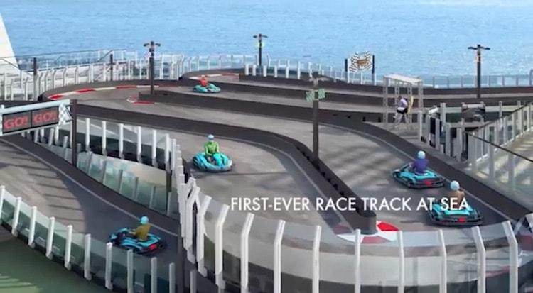 Erste Rennbahn auf hoher See: Norwegian Joy mit Gokart-Bahn / © Norwegian Cruise Line