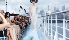Costa Luminosa diente als Laufsteg für Models in Sydney
