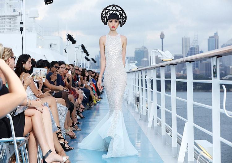 Jessica Minh Anh Fashionshow auf der Costa Luminosa in Sydney / © Costa Crociere