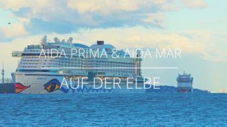 AIDAmar verfolgt AIDAprima auf der Elbe (Bilder & Video)