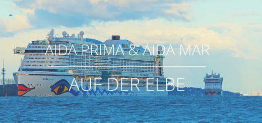 AIDAprima und AIDAmar zusammen auf der Elbe