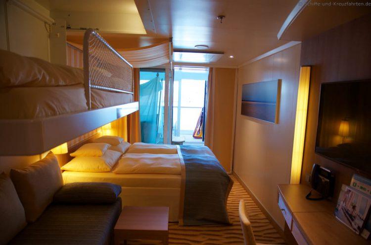 aidaprima kabinen und suiten bilder videos. Black Bedroom Furniture Sets. Home Design Ideas