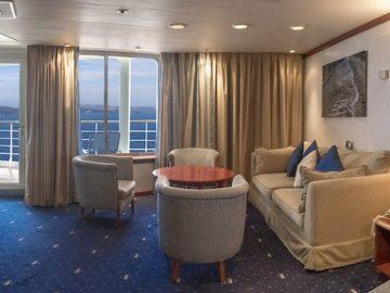 Die Celestyal Crystal wurde mit 43 neuen Balkonkabinen ausgestattet / © Celestyal Cruises