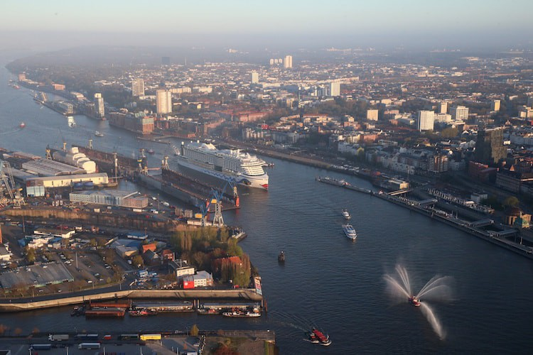 AIDAprima Erstanlauf in Hamburg / © AIDA Cruises