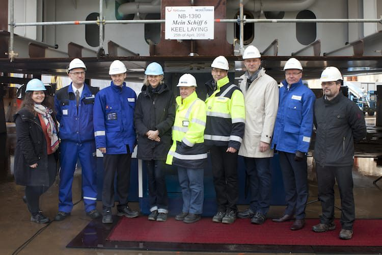 Die Mein Schiff 6 wurde auf der Meyer Werft Turku auf Kiel gelegt / © TUI Cruises