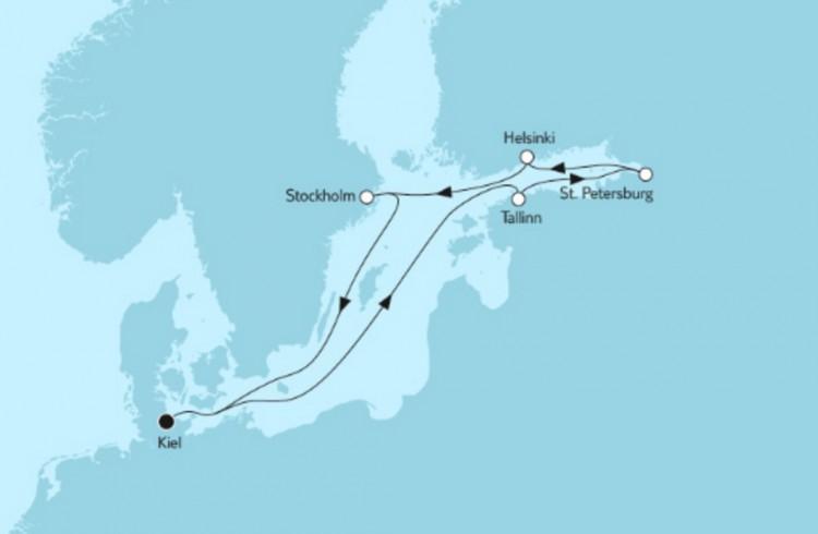 Neue Mein Schiff 1 Ostsee Baltikum mit Helsinki