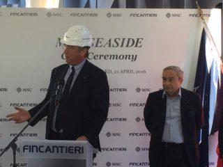 MSC Seaside: Neuheiten & Münzzeremonie bei Fincantieri (Bilder)