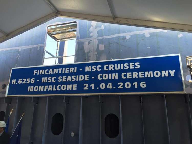 MSC Seaside Münzzeremonie/Bild: Oliver P. Mueller