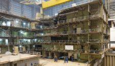Feuer auf der Norwegian Joy im Baudock der Meyer Werft