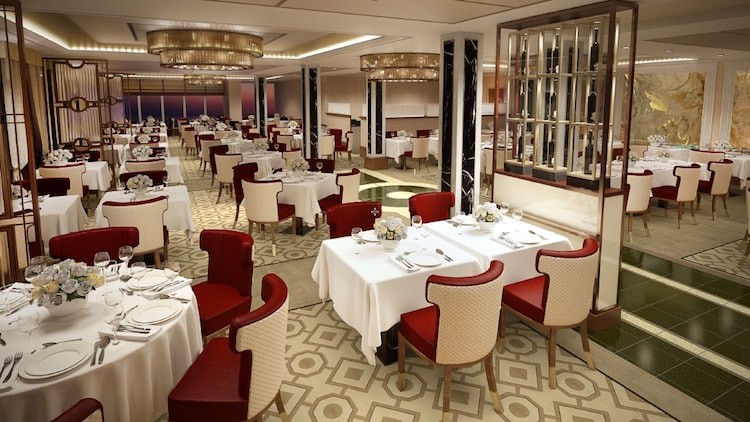 Das neue Queens Restaurant der Queen Mary 2 / © Cunard Line