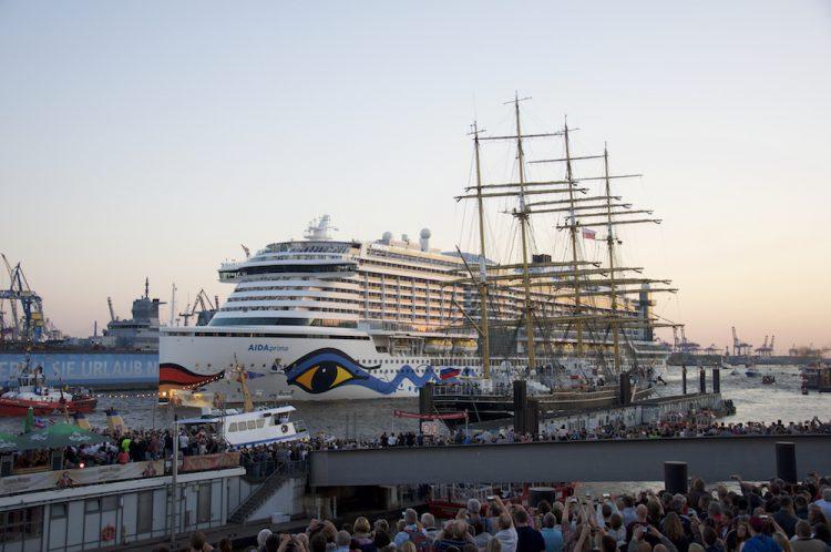 AIDAprima Taufe in Hamburg