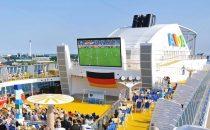 Fussball-Europameisterschaft 2016 auf AIDA Cruises Schiffen
