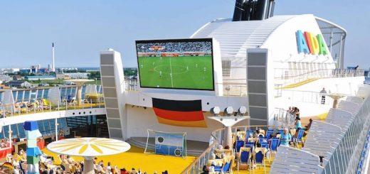 Fussball Europameisterschaft in Frankreich 2016: Alle Spiele live auf AIDA Kreuzfahrtschiffen sehen / © AIDA