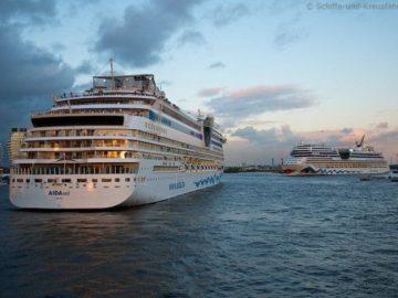 Orinoco Flow und Sail Away: AIDA Auslaufmusik