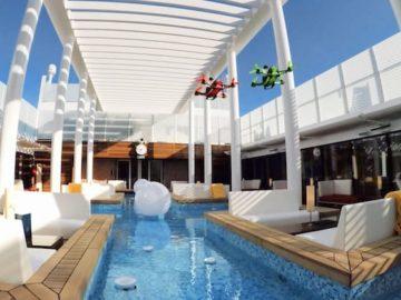 Drohnen-Rennen auf AIDAprima / © AIDA Cruises