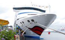 AIDA: 250. Anlauf von AIDA Cruises im Kieler Hafen