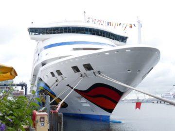 Zum 250. Mal machte ein AIDA Kreuzfahrtschiff im Kieler Hafen fest / © AIDA Cruises