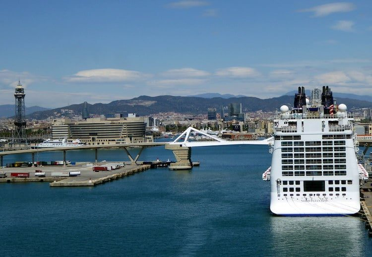 Norwegian Epic in Barcelona
