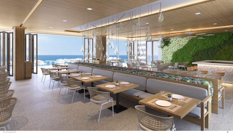 Das Silver Palm Restaurant auf Great Stirrup Cay / © Norwegian Cruise Line