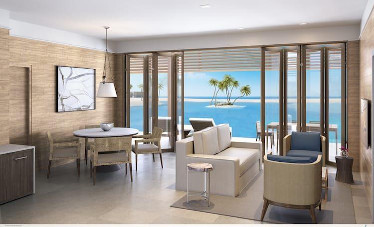 Schlafbereich der Studio-Villen auf Great Stirrup Cay / © Norwegian Cruise Line
