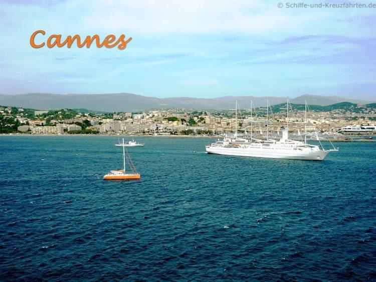 Mit der Mein Schiff 3 in Cannes