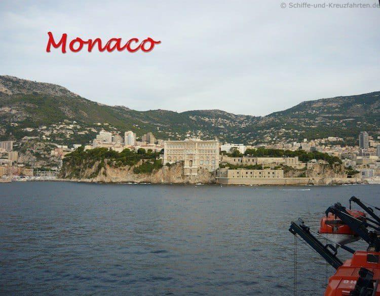 Mit der Mein Schiff 3 in Monaco