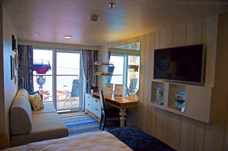 Mein Schiff 4 Balkonkabine 6087 mit eingeschränkter Sicht - Kategorie H