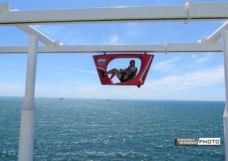 Ein Highlight: Das Skyride auf der Carnival Vista