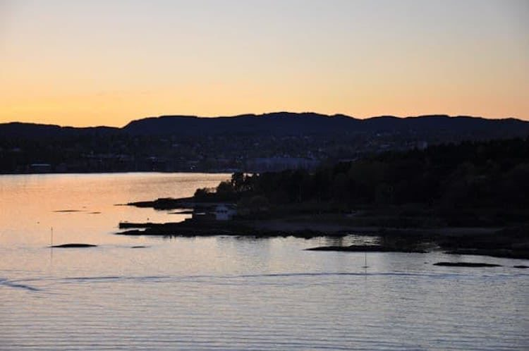 Fahrt durch den Oslofjord mit AIDAcara