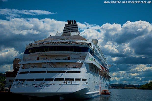 AIDAcara ist im Hafen von Sydney gemeldet