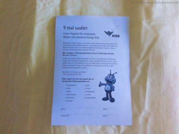 """AIDA Wäscheservice für Kinder """"9 mal sauber"""