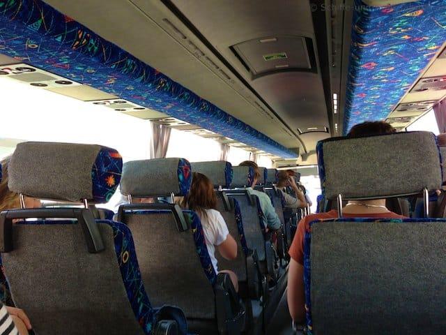 Bustransfer von AIDA Cruises zur AIDAvita in den Hafen von Palma