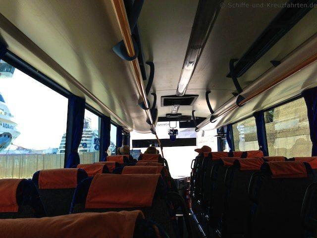 Kostenloser Shuttle-Bus in Civitavecchia