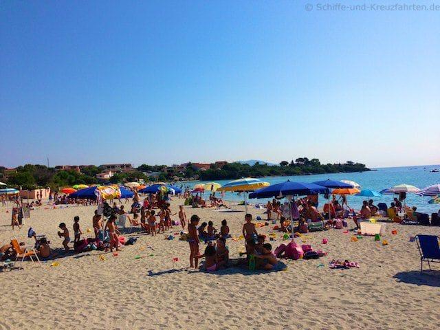 Strand der Einheimischen in Olbia