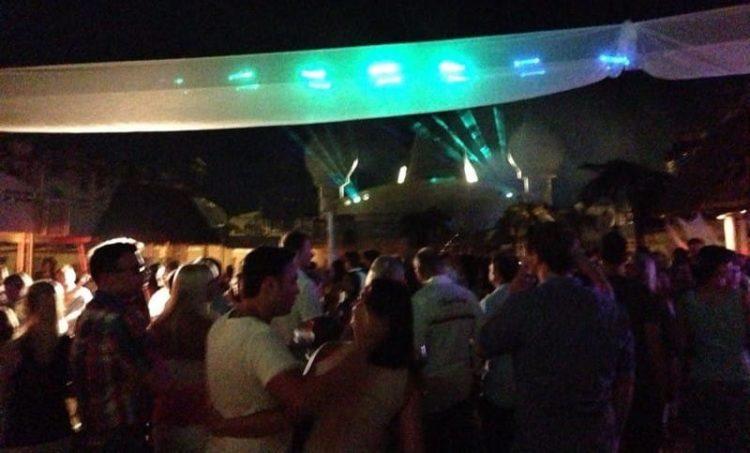 Vollmond Party mit Lasershow auf AIDAvita
