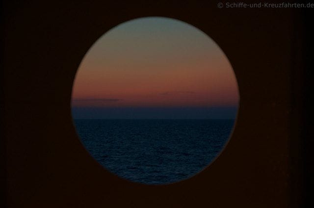 Sonnenuntergang auf der AIDAvita