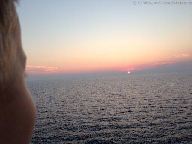 Sonnenuntergang auf dem Weg nach Ajaccio