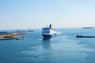 Einfahrt der DFDS Seaways Fähre in Kopenhagen