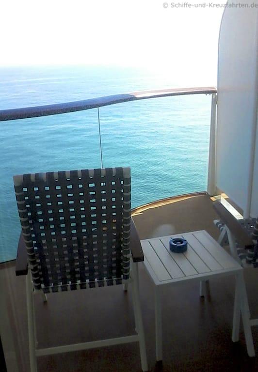 Meerblick vom Balkon Mein Schiff 4