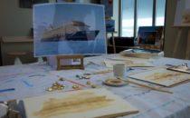 Mein Schiff Malkurs: Malen mit Kaffee