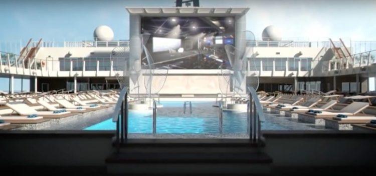 MSC Meraviglia Poolbereich @ MSC Kreuzfahrten