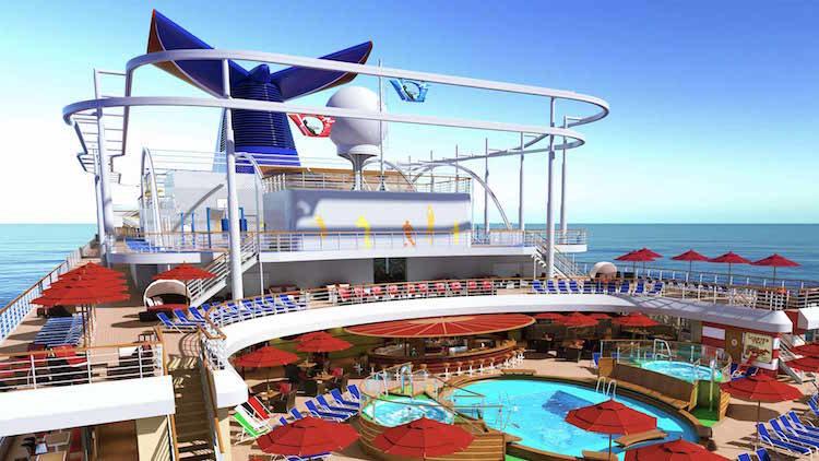 Das Pooldeck der Carnival Horizon / © Carnival Cruise Line