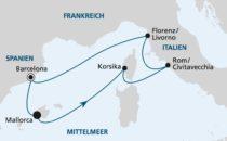 AIDAprima Mittelmeer Kreuzfahrten (Perlen am Mittelmeer 1 & 2)
