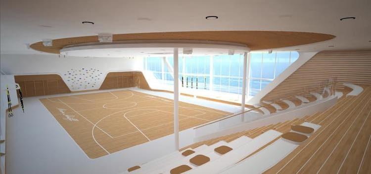 Die Arena - das Sportdeck der neuen Mein Schiff 1 wird überdacht sein / © TUI Cruises